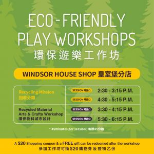 Eco-Friendly Play Workshop at Windsor House